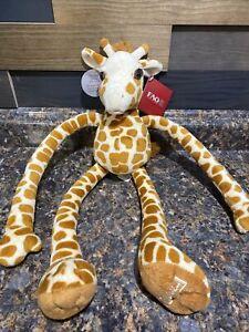 FAO Schwarz Toys R Us Brown Tan Tug A Lug Geoffrey Giraffe Stuffed Plush Toy