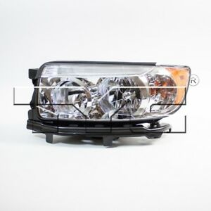 Driver Left Halogen Headlight Assembly TYC for Subaru Forester 2006-2008