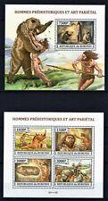BURUNDI 2013 HOMMES PREHISTORIQUES ET ART PARIETAL ANCIENT HUMAN PERF STAMPS MNH