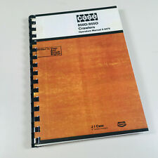 J I CASE 850D/855D CRAWLERS TRACK LOADER BULL DOZER OPERATORS OWNERS MANUAL
