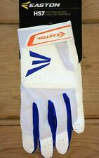 Easton HS7 Batting Gloves NEW Men's Size M White/Blue/Orange FREE SHIPPING