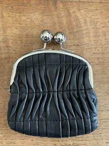 Clarks Leather Purse Black