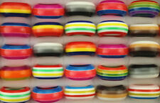 Wholesale Bulk Lots 60pcs Mixed Color Women Fashion Newest Resin Jewelry Rings