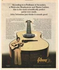 1977 Gibson Mark Acoustic Guitar John Sebastian Vtg Print Ad