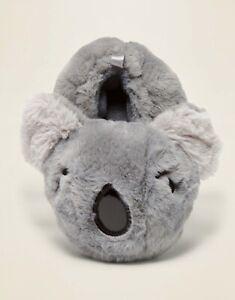 NEW Old Navy Toddler Gray Plush Koala Critter Slippers Size XS ( 5 - 6 )