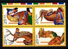 USA - STATI UNITI - 1988 - Animali scolpiti in legno. -