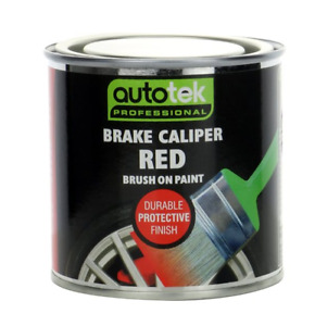 Autotek Red Brush On Brake Caliper Paint [CALR250] Also For Drums