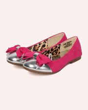 New Girl Jelly Beans Saro Mixed Media Capped Toe Bow Tie Ballerina Flat