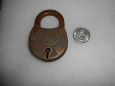 Antique Old Corbin Brass Padlock Lock Vintage