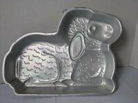 Wilton Lamb Cake Pan Mold #2105-2514 Aluminum 1987 vintage vtg