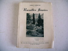 jardinage ROCAILLES FLEURIES A. Correvon 24 planches 8 dessins
