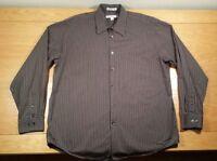GEOFFREY BEENE Button Up Business Casual Dress Shirt L Men's Large (16-16.5)