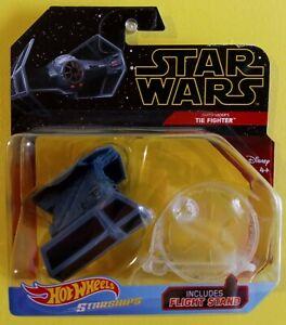 2019 Hot Wheels Star Wars Starships Darth Vader's TIE Fighter Flight Stand FYT65