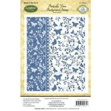 JustRite Cling lavish BUTTERFLY VINES background stamp