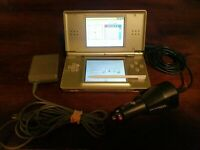 Authentic DS Lite Legend of Zelda: Phantom Hourglass Gold w/ AC & Car charger