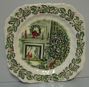 Johnson Brothers MERRY CHRISTMAS Square Salad Plate /s BEST More Items Here