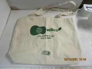 WILCO Live At Red Rocks Promo Canvas Bag KBCO Used! July 3, 2009 Rare!
