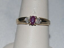 10k Gold ring with Ruby(July Birthstone) with diamonds