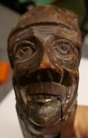 Vintage Old Man Face Nutcracker Hand Carved & Stained Wood Black Forest Folk Art