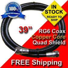 """400  - COAX CABLES RG6 - 3 Foot  39"""" Jumper Solid Copper - FREE SHIPPING!!!"""