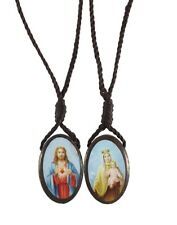 Large Oval Wood Scapular (B1529) NEW 1 Inch Panels