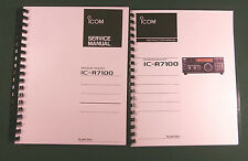 ICOM IC-R7100  Service & Instruction Manuals - Card Stock Covers & 28 LB Paper!