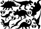 Dinosaur Vinyl Decal Stickers Mixed Size Wall Art Bedroom Deco Jurassic Dino