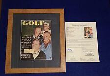 Gary Player Arnold Palmer Wall Ford SIGNED Golf Magazine JSA COA Autograph Auto