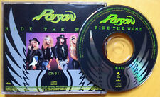 POISON Ride The Wind PROMO CD SINGLE Flesh & Blood GLAM METAL Bret Michaels 1990