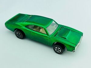 Hot Wheels Redline CUSTOM DODGE CHARGER Green White Int VG/EX Very Nice !!!