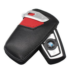 Genuine Leather Key Cover Case Holder Key Chain Fob for BMW M Sport Red
