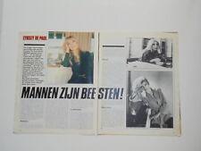 Lynsey de Paul Smokie Heep Byron Led Zeppelin Chicago clippings Holland Dutch