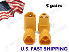 5 Pairs AMASS MT30 2mm 3 pole Bullet Connector Plug Set For RC ESC to Motor ZY01