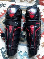 "CCM QLT230 Junior /Youth Ice Hockey Shin Guards Knee pads, 12"" 30cm"