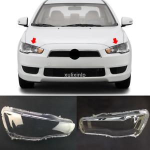 For 2008-2015 Mitsubishi Lancer Left & right Headlight Headlamp Lens Cover 2pcs