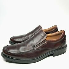 Ecco Brown Brown Leather Shock Point Shoes Loafers Slip On Comfort Size Men 42