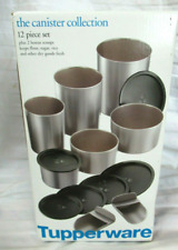 Tupperware One Touch Topper Stacking Canisters Annivesary 4-piece Set New!