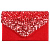 Women Ladies Diamante Party Prom Bridal Evening Clutch Hand Bag Purse Handbag