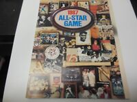 1987 MLB BASEBALL ALL STAR GAME PROGRAM WITH TICKET OAKLAND ATHLETICS RARE