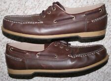 Faded Glory Dress Shoes 13 Man Made Uppers Solid Mens Men Oxfords Brown Thirteen