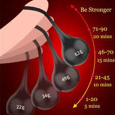 4PCS/Set Ball Trainer Weight Penis Stretcher Hanger Extender Chastity Device New