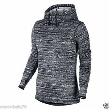 Nike Women Pro Hyperwarm Thermal Hooded Running Top - 685215-065 - Sz S - Blk/Wh