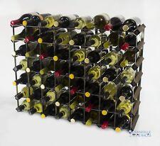 Cranville wine rack storage 56 bottle dark oak stain wood/black metal assembled