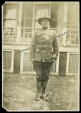 World War I Military Photo American Soldier With Hat WWI US