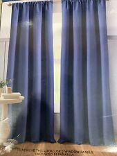 Bee & Willow Home Textured Weave 84 Inch Rod Pocket Back Tab Curtain Panel Blue