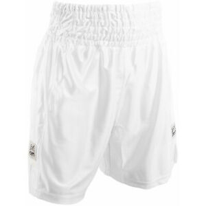 Rival Boxing Dazzle Traditional Cut Competition Boxing Trunks - White
