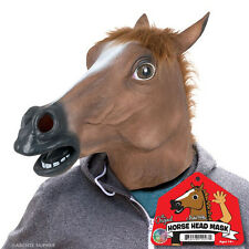 Horse Head Mask Deluxe Full Face Head Latex Rubber Animal Costume