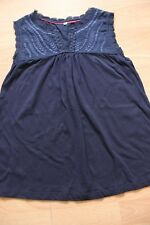 BODEN  navy blue Broderie  sleeveless Vitoria top size 8