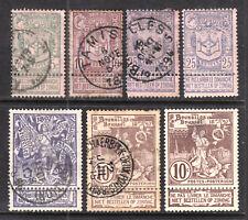BELGIUM #76-81, 1894-96 SET/6, F-VF, USED
