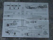 159K Air decals Plan du B-24 Liberators USA WWII 55,7 X 43 cm